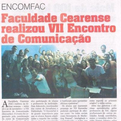 Saiu na mídia: EnComFaC é notícia no jornal O Estado
