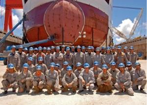 Pesquisadores do Centro de Tecnologia Naval e Oceânica (CNaval).