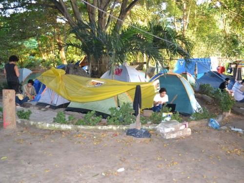 acampados no Cocó