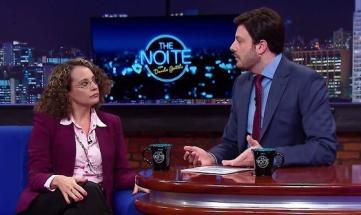 ''The Noite'', de Danilo Gentili, recebeu a candidata Luciana Genro (PSOL) na noite do dia 15.