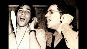 Encontro entre ícones do rock nacional, Bruno Gouveia, vocalista do Biquini Cavadão (à esq.) e Renato Russo (à dir.).