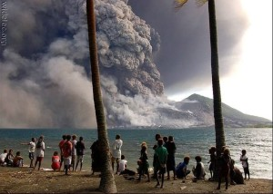 """Vulcão Xu Lin entra em atividade após 96 anos """"dormindo"""", o vulcão está localizado em nagoia cidade localizada no leste do Japão."""