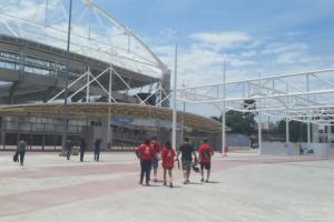 Equipe do aplicativo Biomob desaprova acessibilidade durante vistoria no entorno do Estádio Olímpico João Havelange (Engenhão) Vinícius Lisboa/Agência Brasil