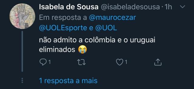 twitter mauro cesar comentarios internautas copa america